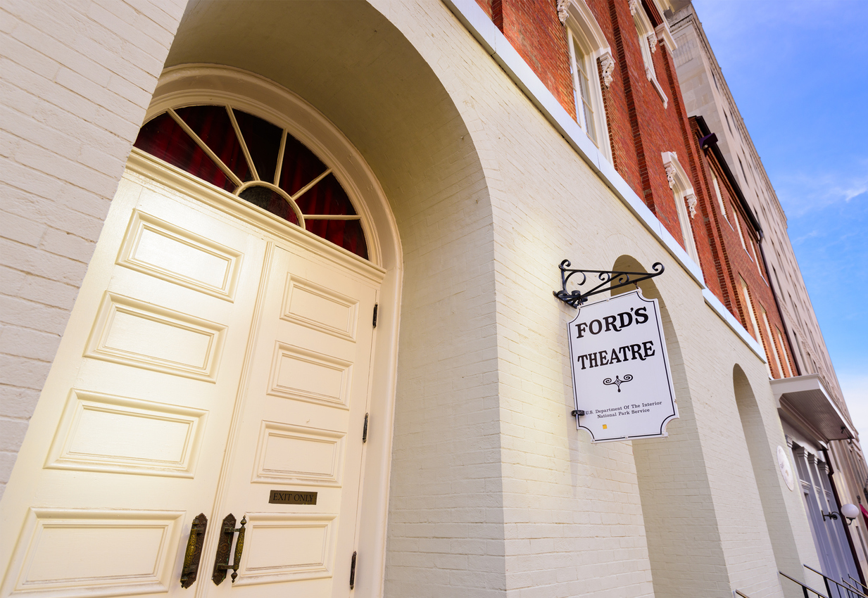 the front entrance of Ford's Theatre